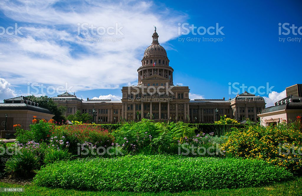 The Amazing Austin Capitol Building Stands Taller than All Others stock photo