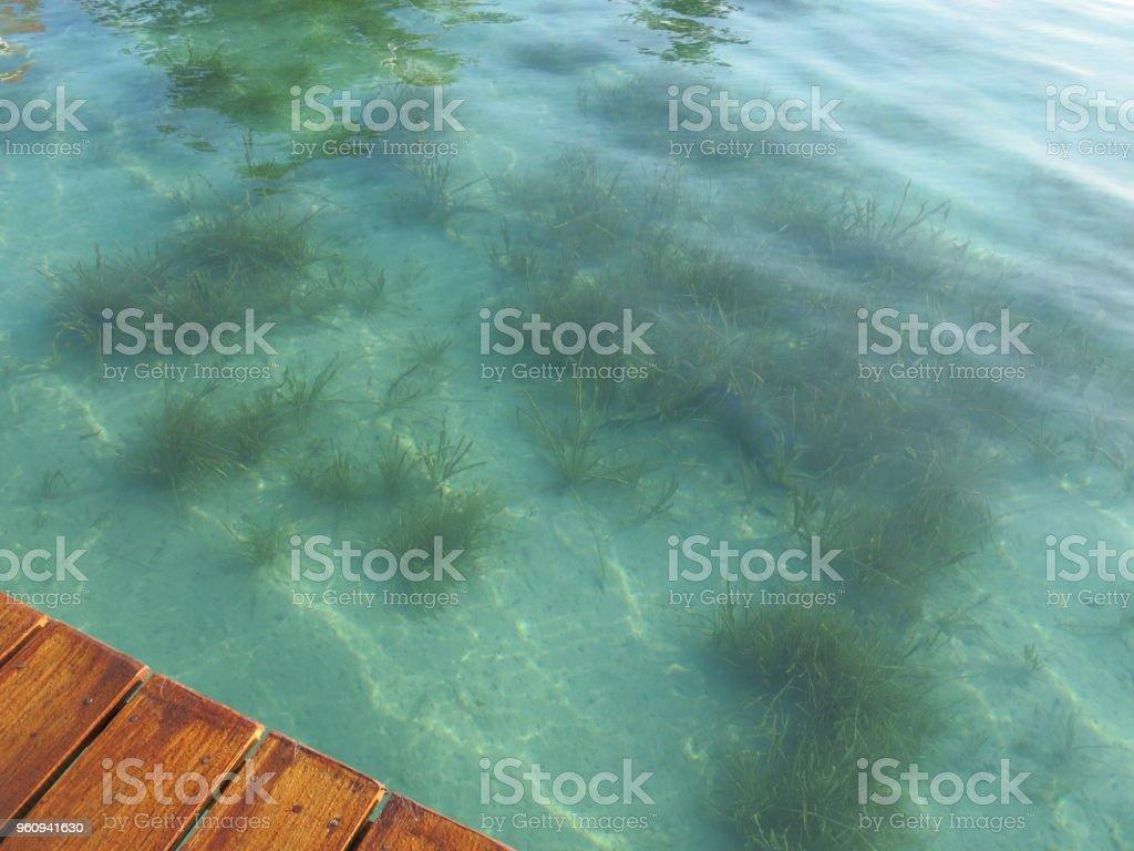 El increíble, hermoso y relajante Bacalar en México - foto de stock
