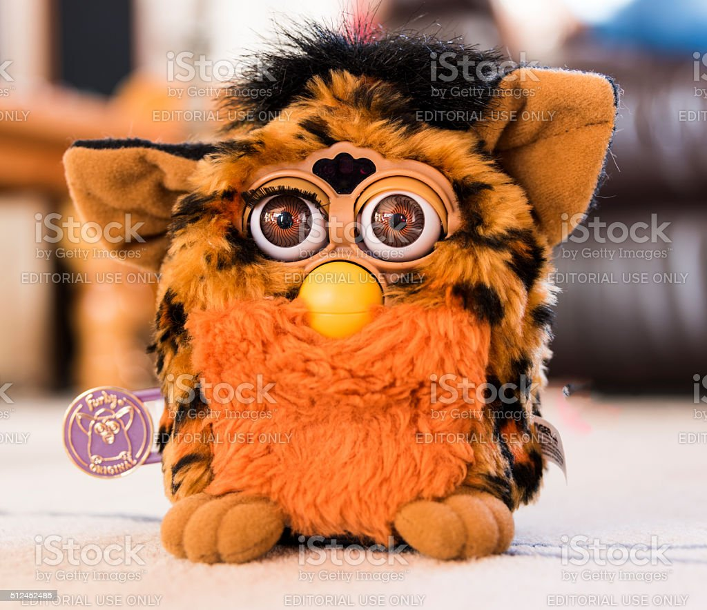 The Amazing Furby Robotic Toy stock photo