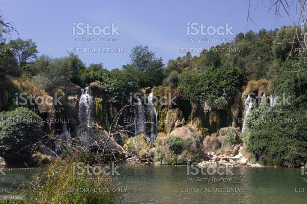 The amazing Kravice waterfalls in Bosnia Herzegovina, nobody around stock photo