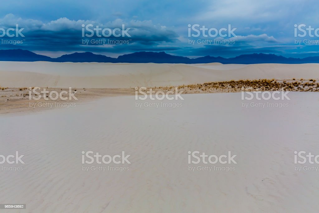 The Amazing Surreal White Sands of New Mexico - Royalty-free Arid Climate Stock Photo