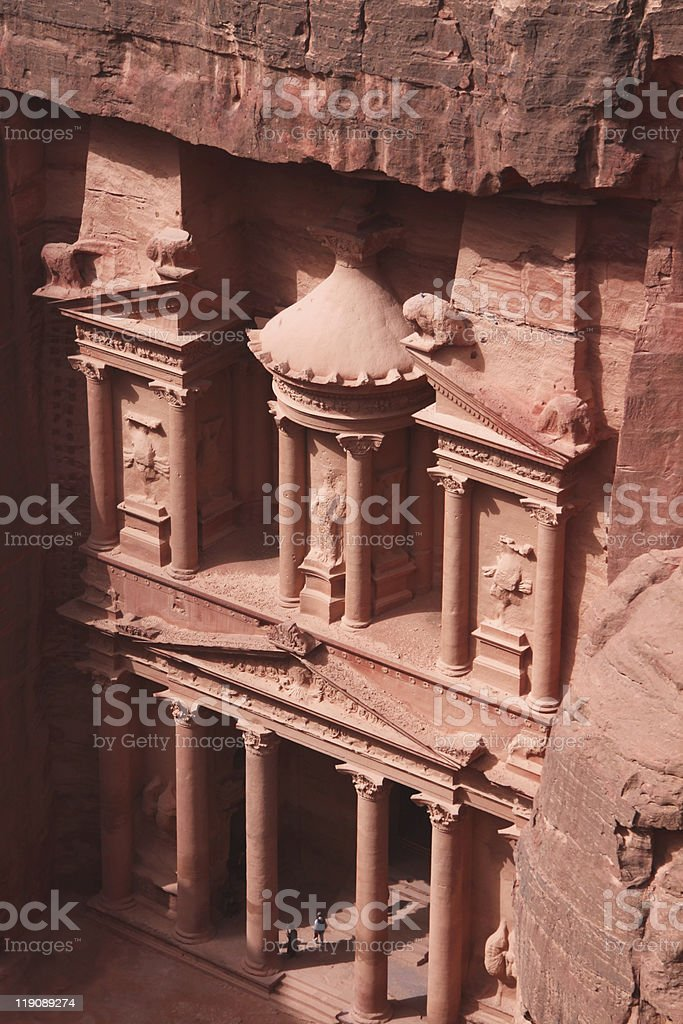 The amazing Treasury building Petra Jordan stock photo