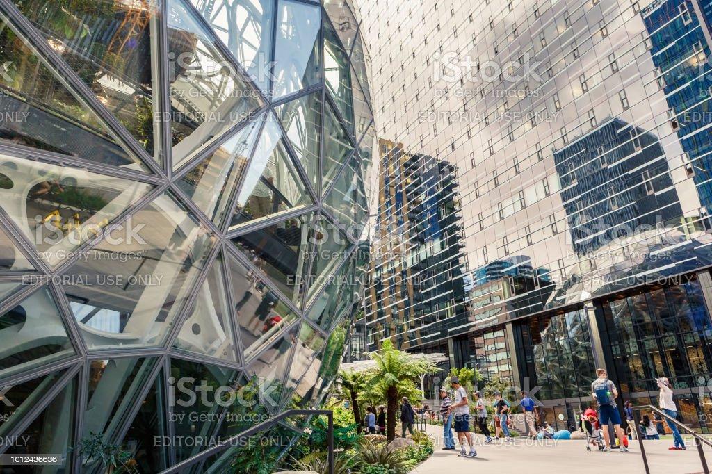 The Amazon World Headquarters Campus Spheres USA stock photo