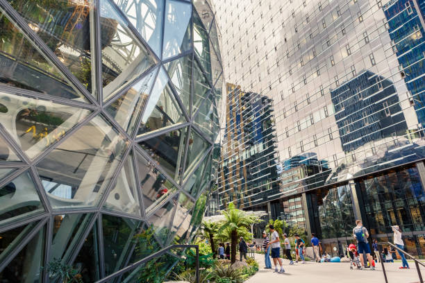 The Amazon World Headquarters Campus Spheres USA stock photo