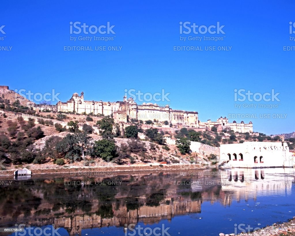 The Amber Fort, India. stock photo