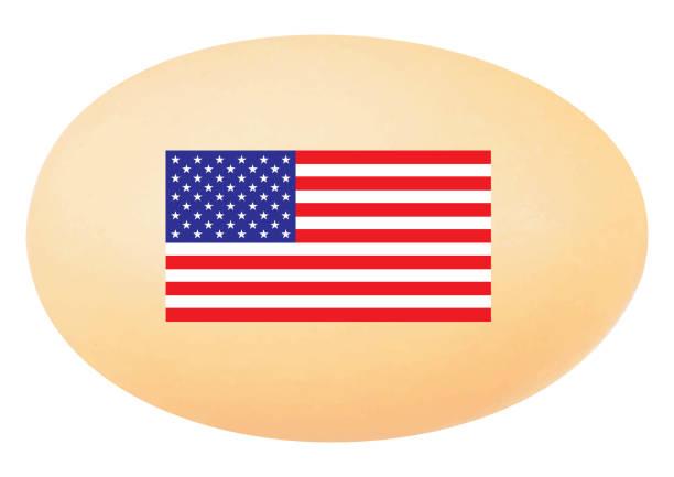 Das amerikanische Ei mit amerikanischen Flagge – Foto