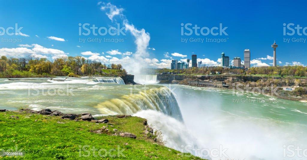 The American Falls at Niagara Falls - New York, USA stock photo