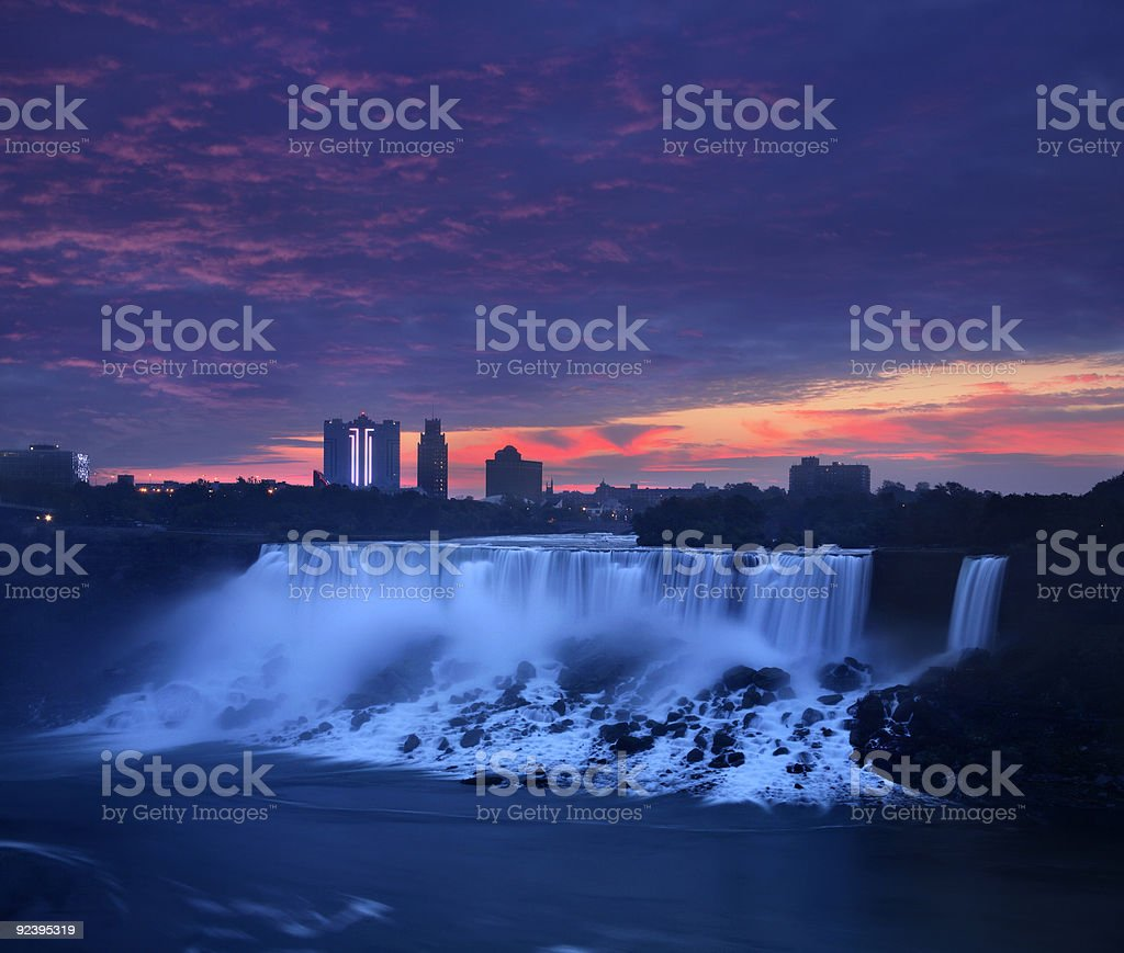 The American Falls stock photo