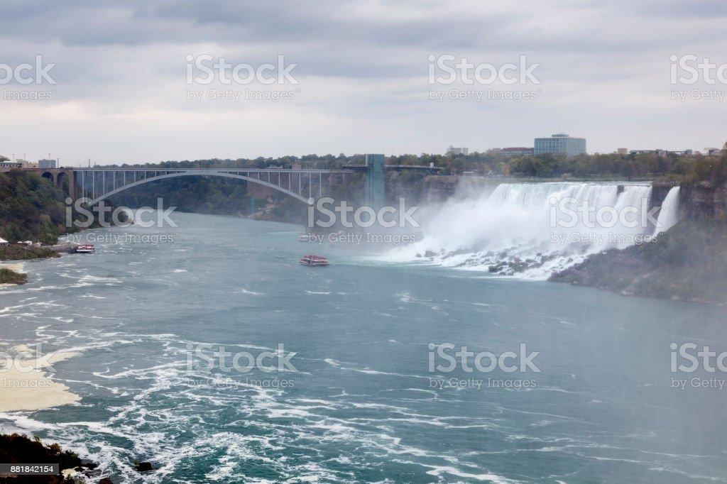 The American Falls waterfalls stock photo