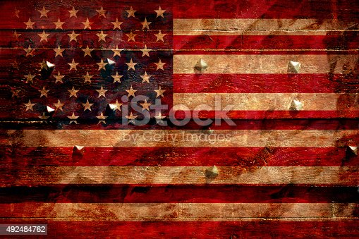 182764873istockphoto The American flag grunge background 492484762