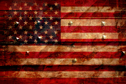 182764873 istock photo The American flag grunge background 492484762