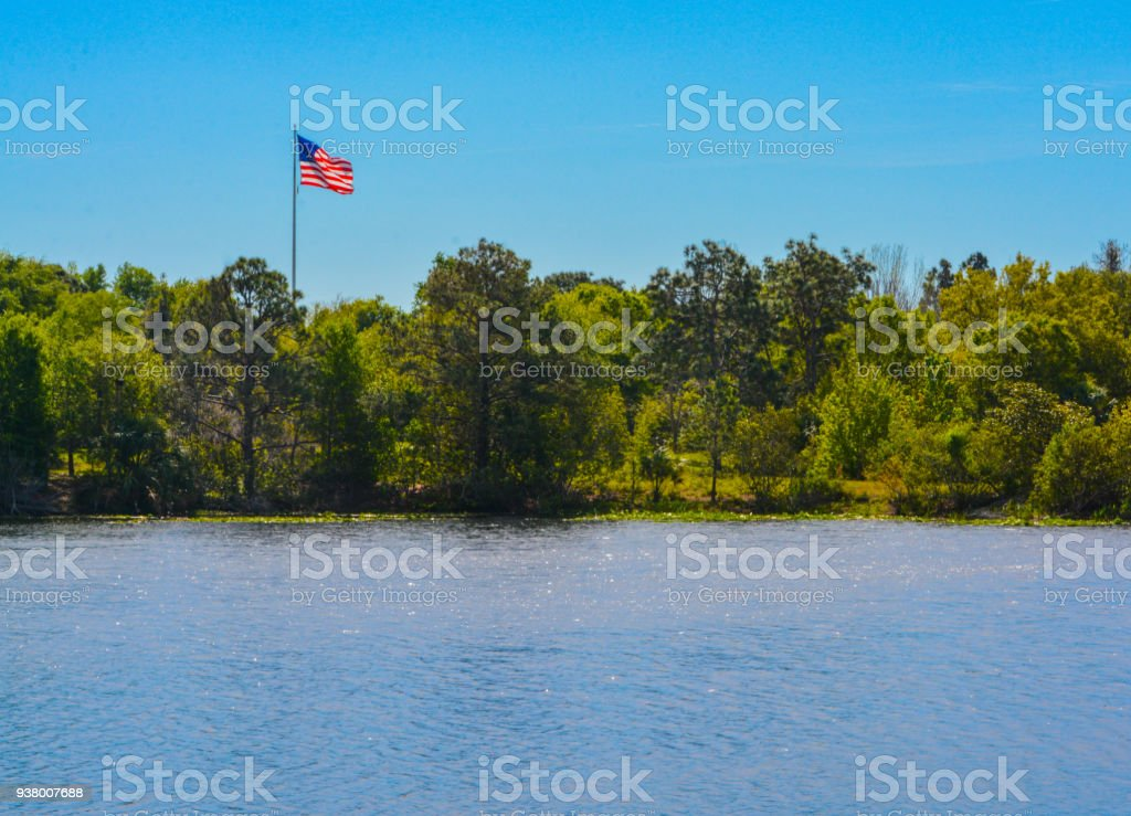 The American Flag, stars and stripes stock photo