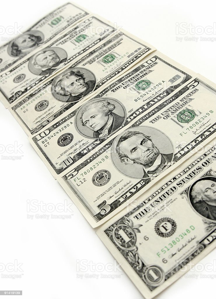 The American money royalty-free stock photo