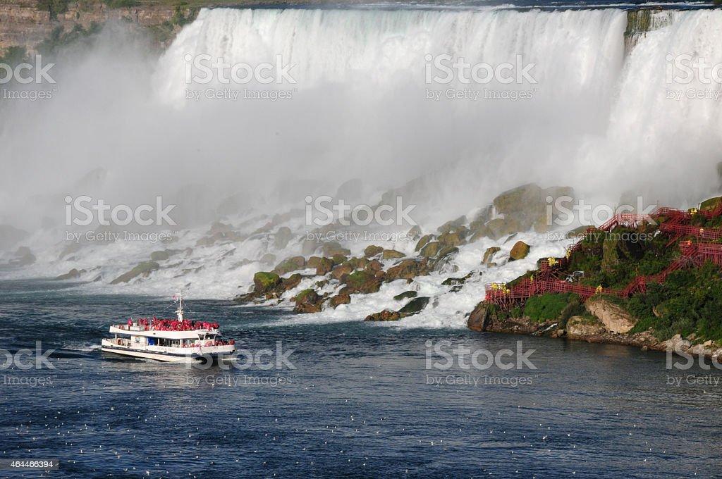 The American side of the Niagara Falls stock photo