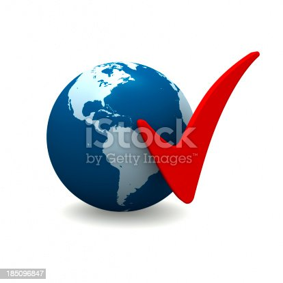 171057063istockphoto The Americas with Check Marks 185096847