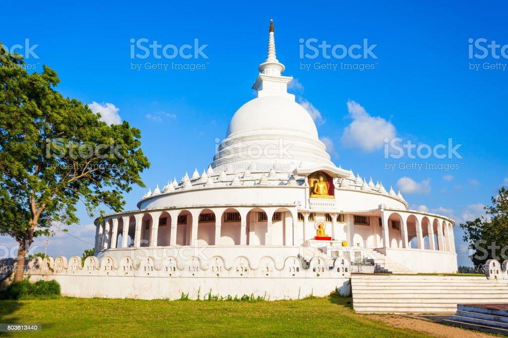 The Ampara Peace Pagoda stock photo