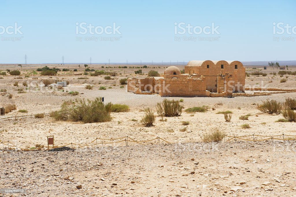 The Amra Desert Castle Near Amman Jordan Stock Photo