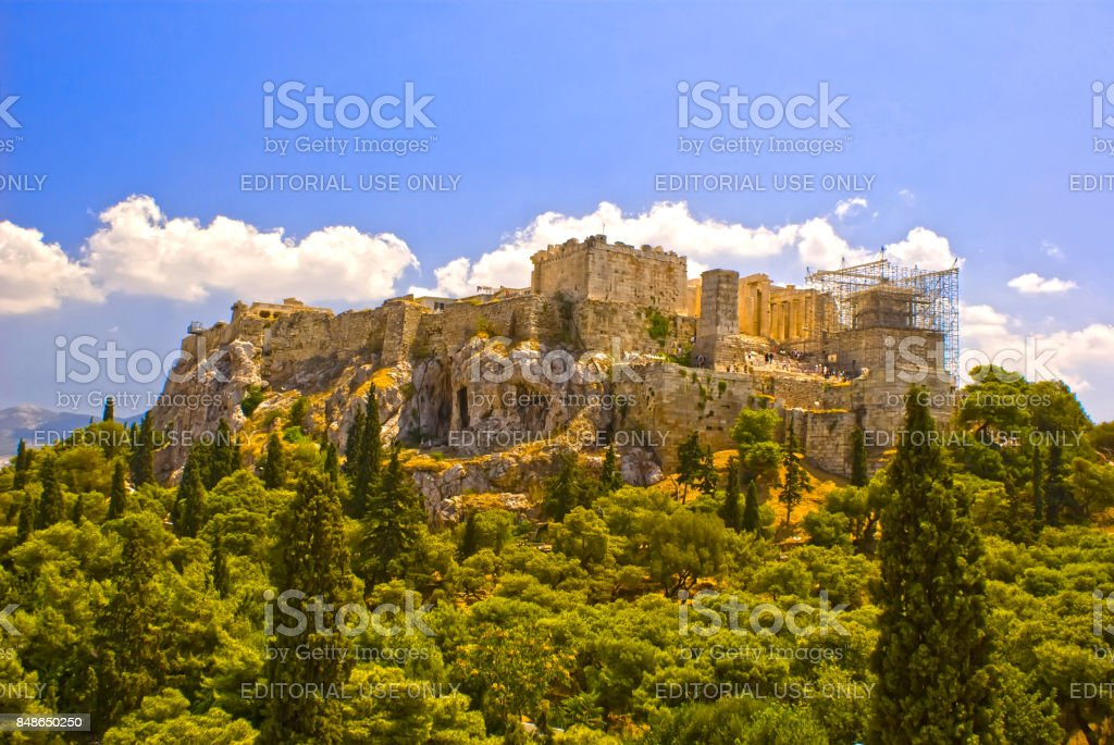 The ancient Acropolis in Athens, Greece, sightseeing Greece'n stock photo