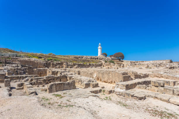 The ancient amphitheater in Paphos. Cyprus stock photo