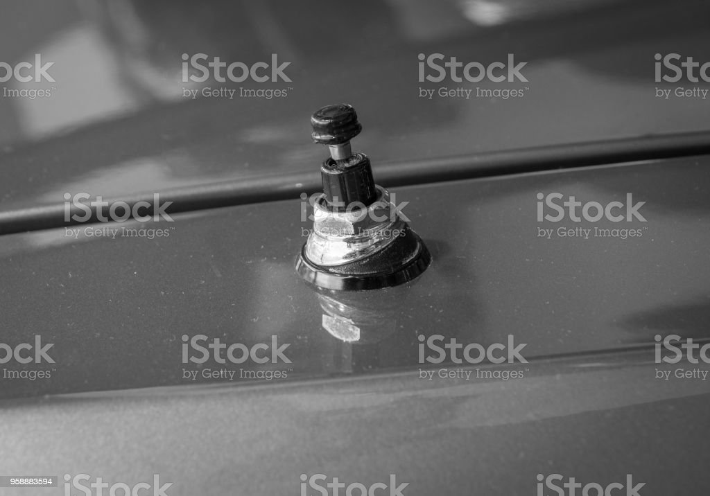 The Ancient Antenna Of An Old Car Stock Photo - Download Image Now