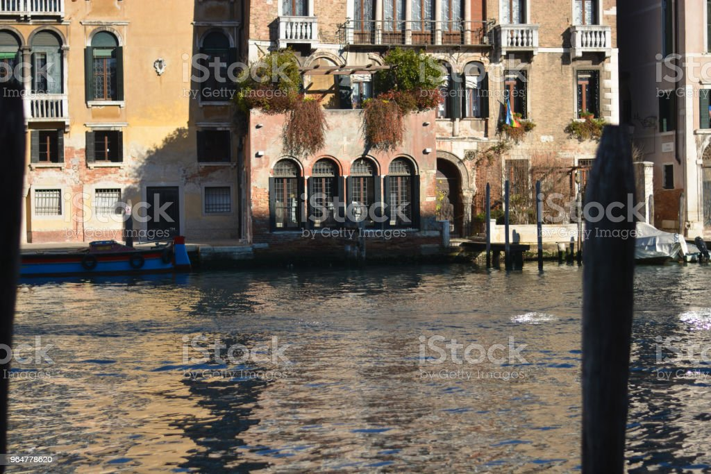 The ancient buildings on the Grand Canal royalty-free stock photo