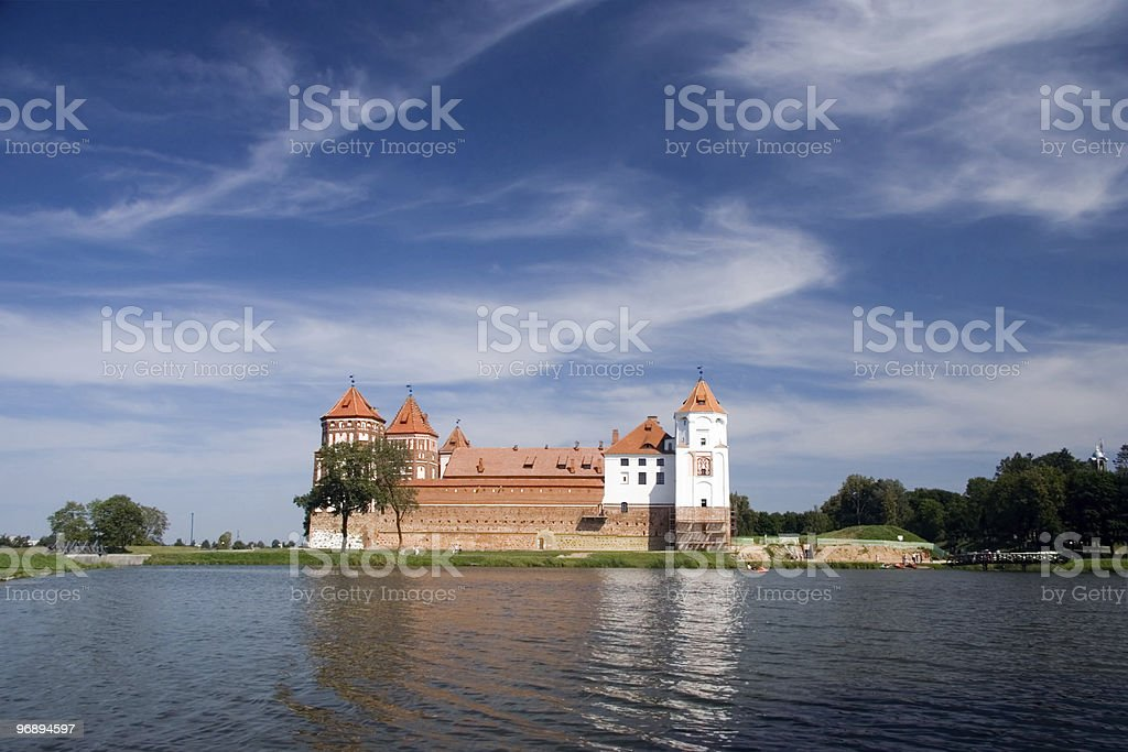 The ancient castle royalty-free stock photo