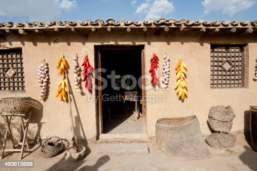 The ancient Chinese local-style dwelling houses building