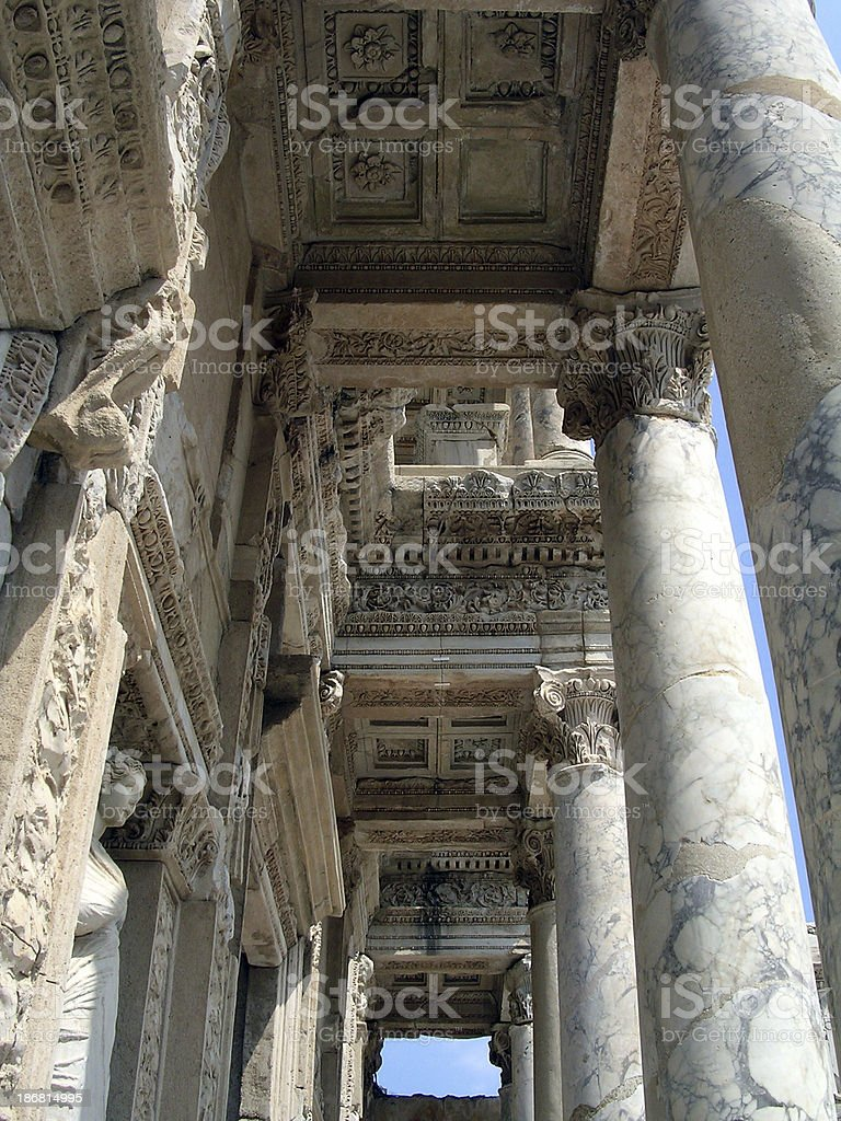 The ancient city of Ephesos royalty-free stock photo