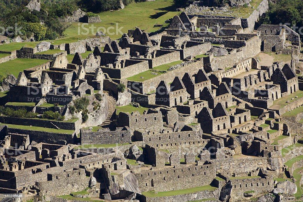 The Ancient City of Machu Picchu stock photo
