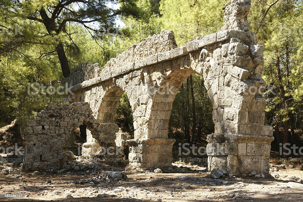 The ancient city of Phaselis royalty-free stock photo