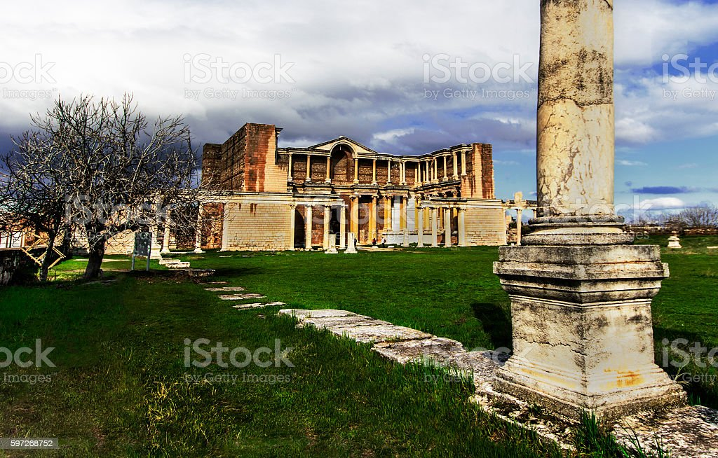 The ancient city of Sardis photo libre de droits