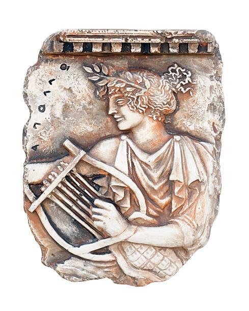 The ancient Greek god Apollo stock photo