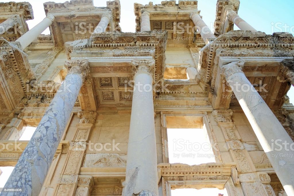 The ancient Library in Turkey stock photo