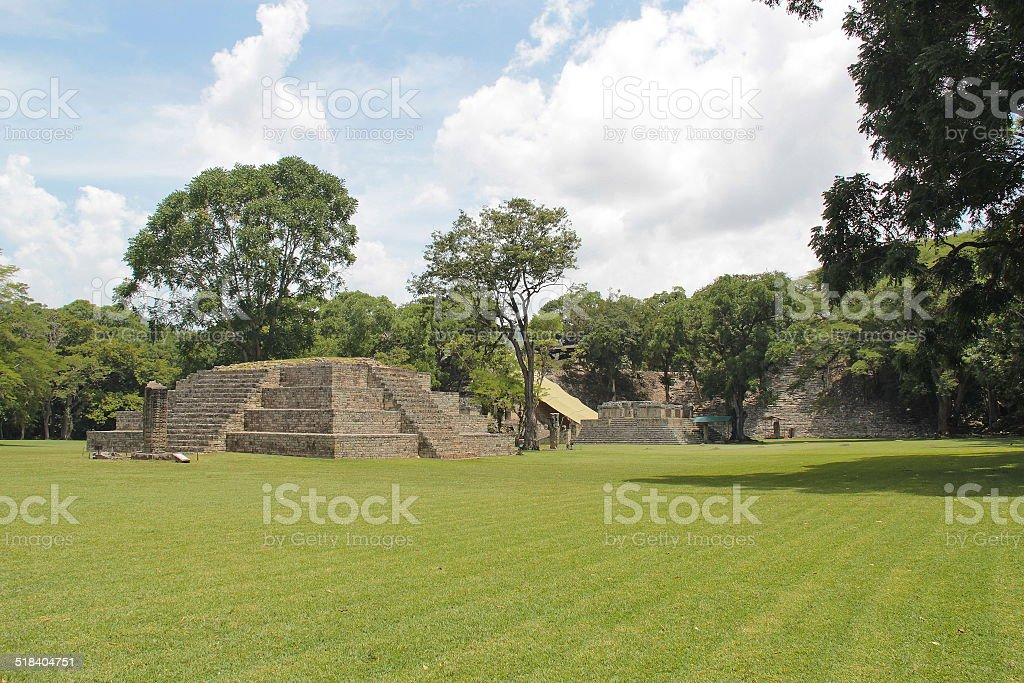 The ancient Mayan archaelogical site of Copan, in Honduras stock photo
