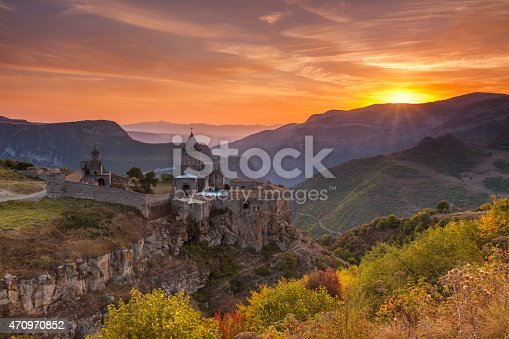 istock The ancient monastery in the setting sun. Tatev. Armenia. 470970852
