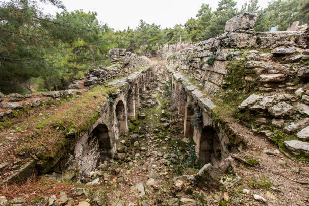 The ancient ruins of Seleucia stock photo