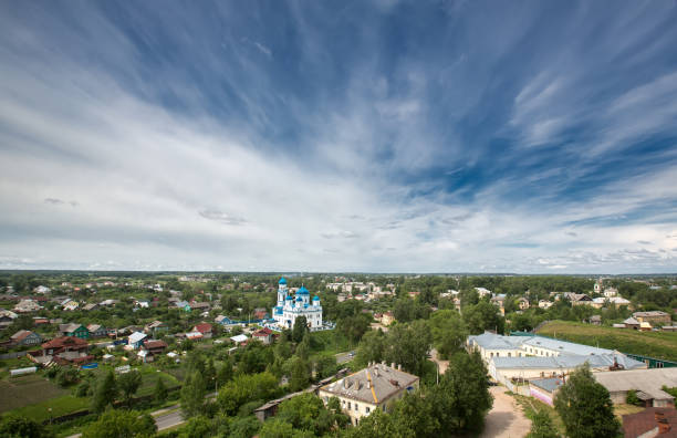 The ancient Russian city of Torzhok stock photo