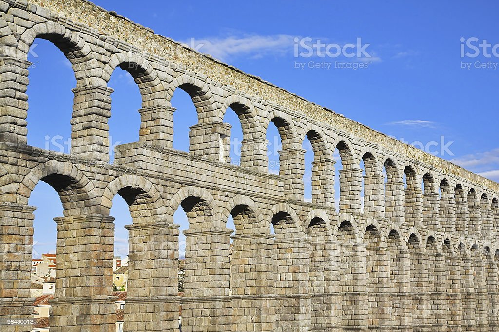 The ancient Segovia in fine May day royalty-free stock photo