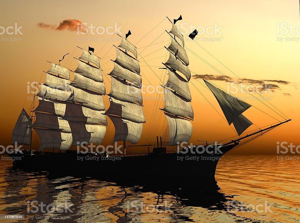 The ancient ship royalty-free stock photo