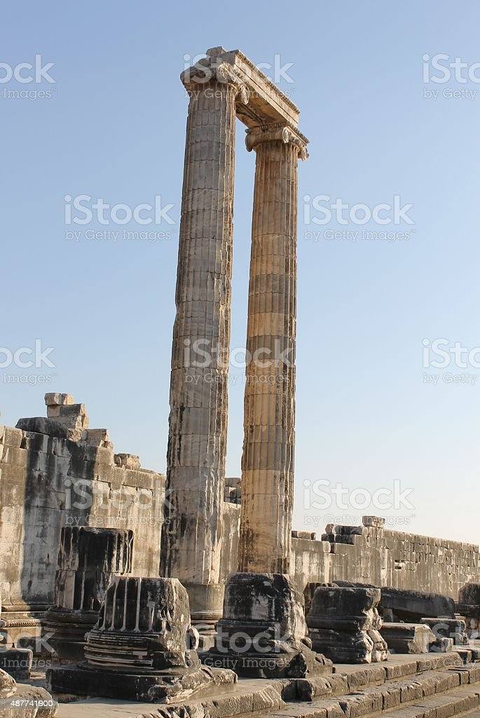 The ancient temple of Apollo stock photo