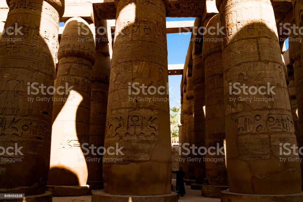 The ancient temple of Hatshepsut in Luxor, Egypt stock photo