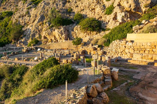 The ancient temple of Hera near Perachora village in Greece stock photo