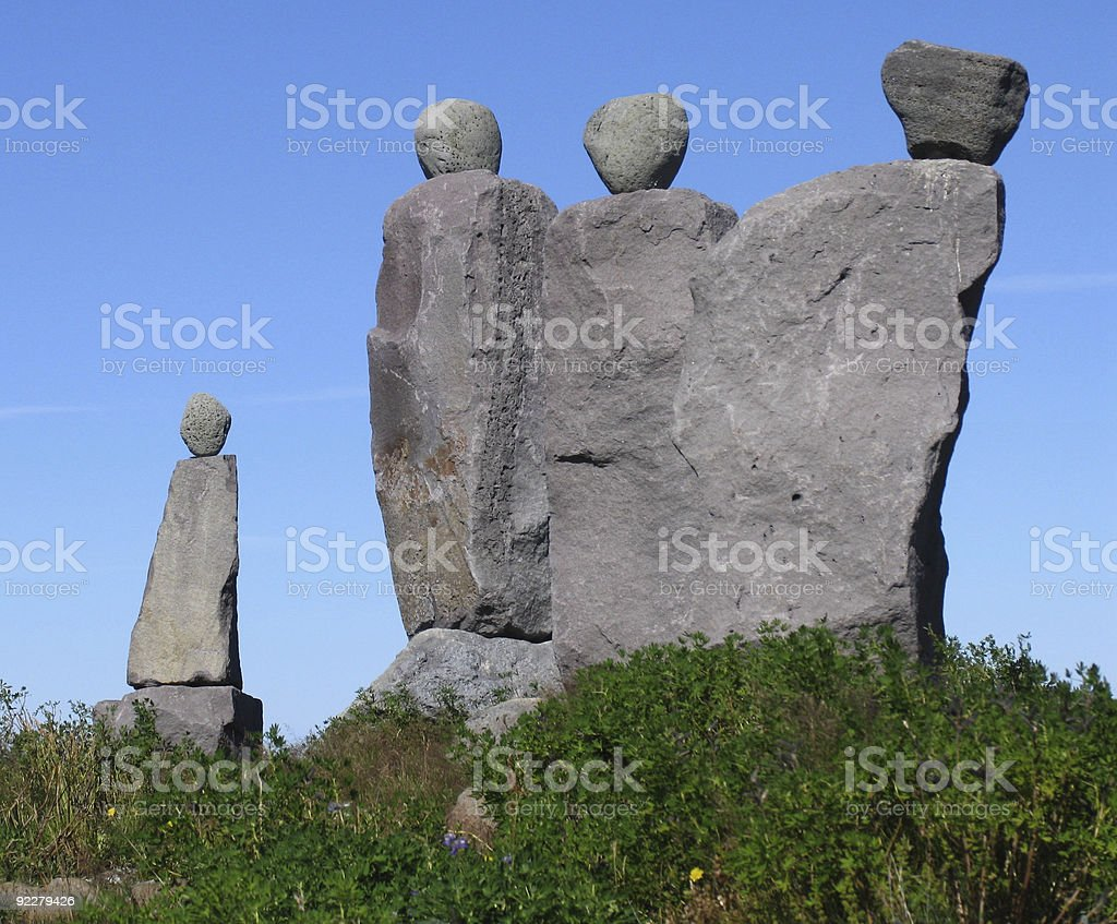 The Ancients Ponder stock photo