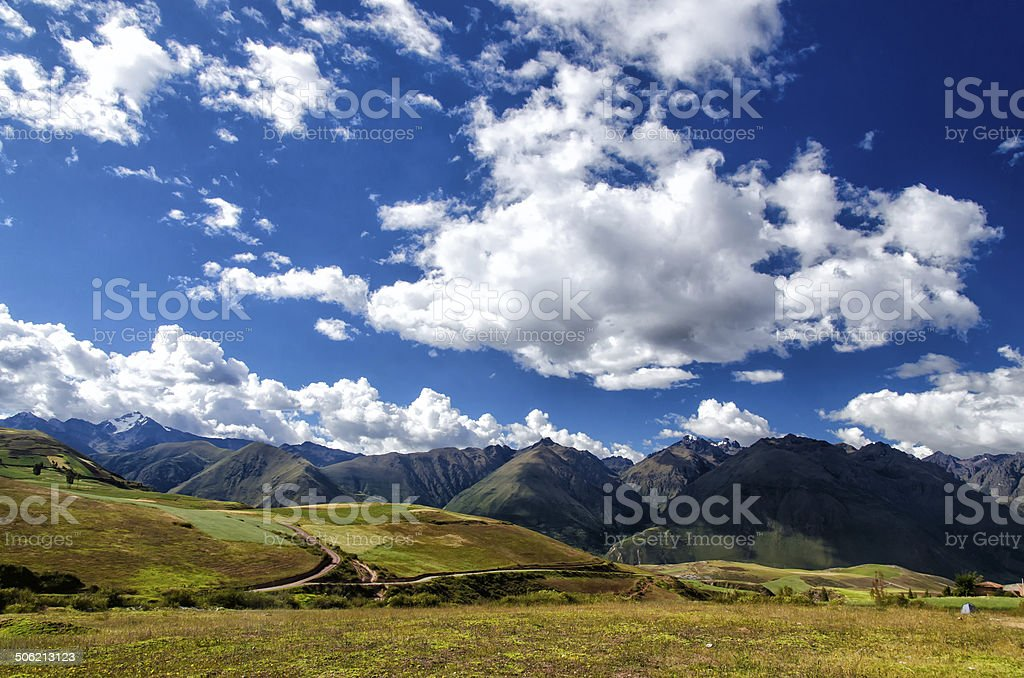 The Andes in Peru stock photo