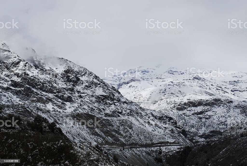 The Andes Mountain range royalty-free stock photo
