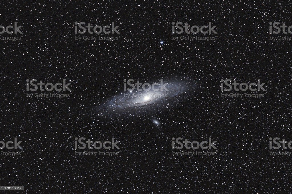 The Andromeda Galaxy (M31) - widefield stock photo