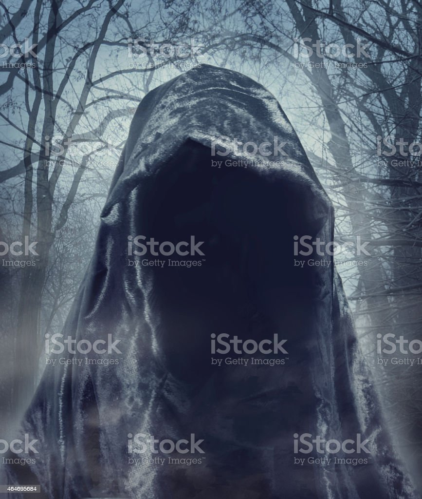 The angel of death. Darkness demon. Photomanipulation. stock photo