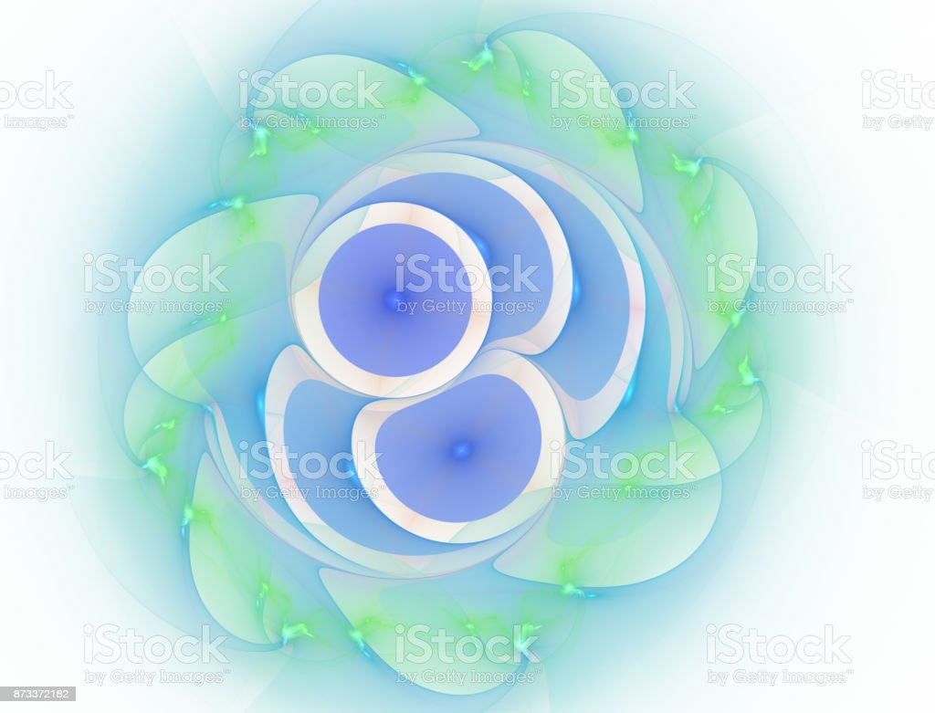 The Angel Particles - Matter - Antimatter - Abstract Illustration stock photo