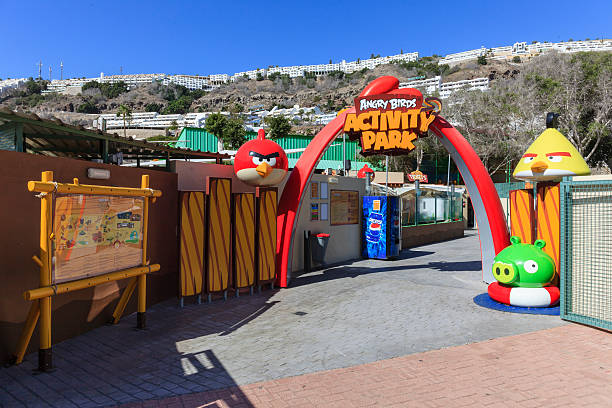 The Angry Birds Park stock photo