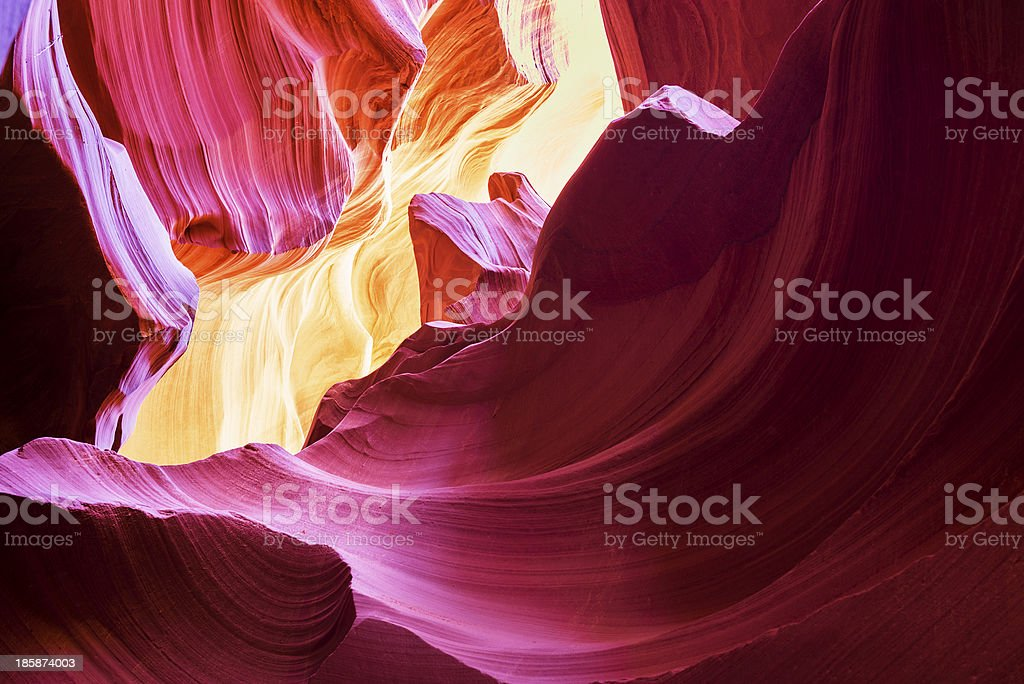The Antelope Canyon, Page, stock photo